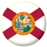Florida State Flag 58mm Mirror Keyring